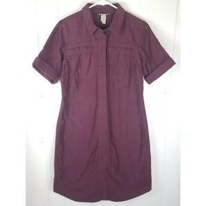 Duluth cotton dress burgundy midi Sz S , New 👍